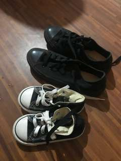 Mother and son converse black