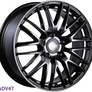 17吋鋁圈 5孔114 雅泛迪造型輕量化 Enkei同工廠品牌圈 四款現貨 搭配215/45/17國產輪胎 高CP完工價