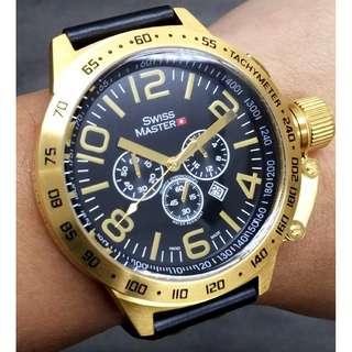 德國註冊品牌SWISS MASTER WATCH 倉存貨 全鋼日本機芯計時碼手錶 (一年保養)