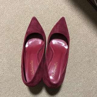Burgundy Heels Size 37
