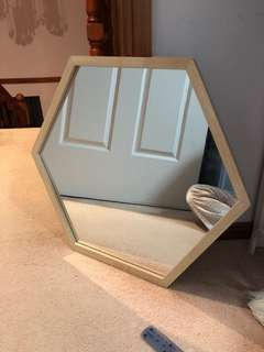 50cmx60cm (30cm sides) hexagon mirror