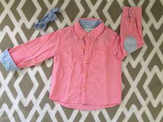 Pink Longsleeve with bow tie