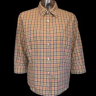 🚚 英國時尚精品DAKS經典格紋純棉7分袖襯衫 日本製