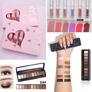 🚚 Kylie mini Matte Lipstick + Novo Eyeshadow palette Bundle Set