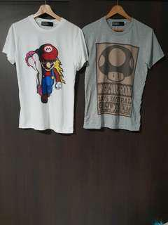 BN lot of 2 Mario graphic tee