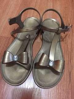 Gold holster sandals