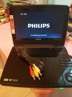 Portable Philips DVD player