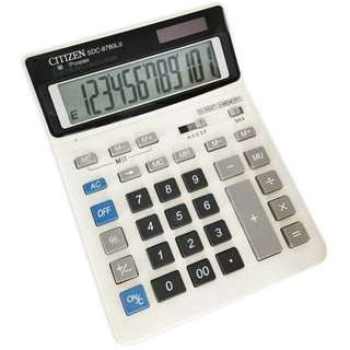 Citizen Solar and Battery Powered Calculator SDC-8780LII