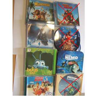 Used Children's Animation Movies – 1 Lot of 20 VCD Movies