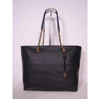 BNEW Michael Kors Chain Link Leather Tote