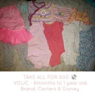 Take all for Baby girl Clothes 6 - 12 months