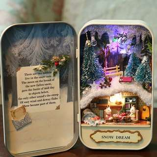 [DIY Story] Box Theatre Mini DIY House ~ Snow Dream