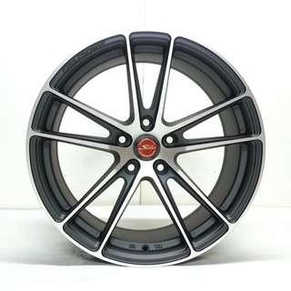 17吋鋁圈 5孔114 台製 璇壓輕量化高品質 四色現貨 搭配215/45/17國產輪胎 高CP完工價