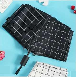 全新黑色格仔雨傘Umbrella
