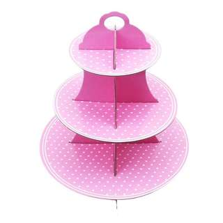 Generic Pink cupcake stand / dessert stand / party deco