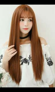 *Best selling Preorder korean straight daily long wig* waiting time 20 days after payment is made*chat to buy to order