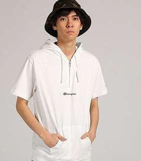 Champion Half Zipper Sweater Hoodie Cotton White Original