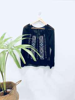 Lucky Brand Indian Sheer Blouse - BN with tags