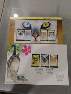 First day cover cats in malaysia