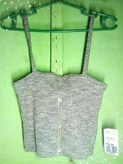Forever21 Gray Cami Sweater Top