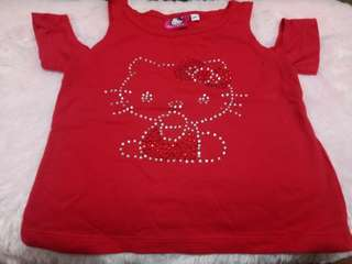Hello kitty off shoulder top