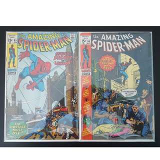 Amazing Spider-man #95,#96 (1971,1st Series)Set of 2- Silver Age Collectibles, Very Rare, Very Old!