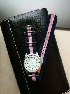 Authentic Jackwills Watch 98% new, Navy and Pink Fast Trade