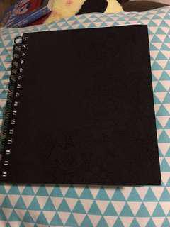 Typo Black Spiral Ring Notebook