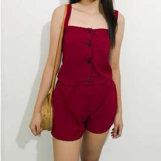 TERNO BUTTON TOP AND SHORT