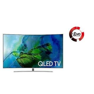 SAMSUNG 65 IN UHD 4K CURVED SMART QLED TV ( Installment )