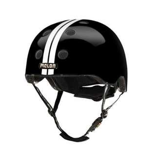 Melon Helmet Straight White Black