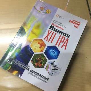 Buku GO Kumpulan Rumus IPA