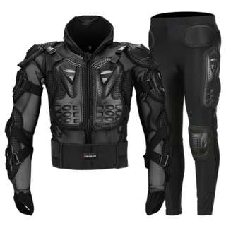 off road riding protection bottom shorts pants protection top shirt set mountain bike trail armoured knee waist