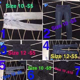 Women Jeans Size 10-12