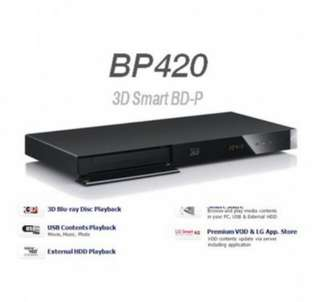 LG DVD player Blue ray BP420 (brand new sealed with warranty)