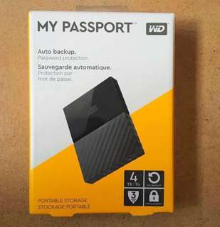 🚚 4TB Western Digital WD Portable Hard Disk Drive HDD