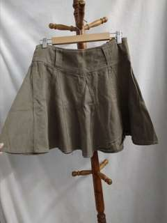 Jeans army green skirt
