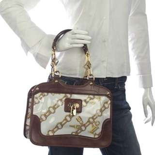 LOUIS VUITTON limited edition white mono charms cabas bag
