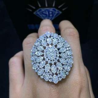 Cincin kembang berlian