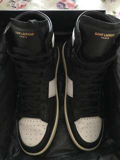 Saint Laurent Paris high cut sneakers size 40