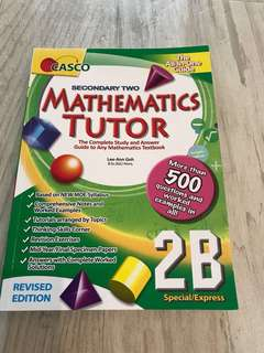 Casco mathematics tutor secondary 2B