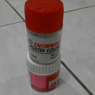 Poster Color Pink Dan White