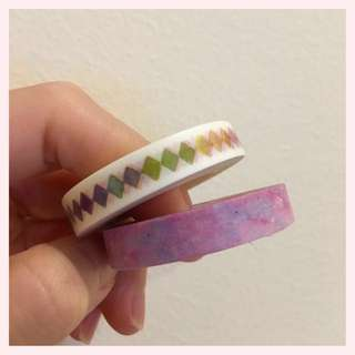 Masking tape - rainbow diamonds/ violet symphony