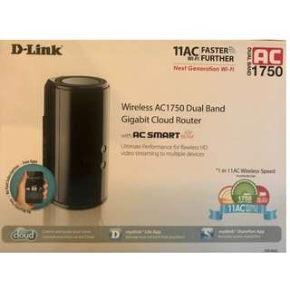 Dlink Wireless AC1750 Dual-Band Gigabit Cloud Router (DIR-868L)