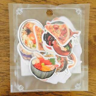 Food party journal stickers
