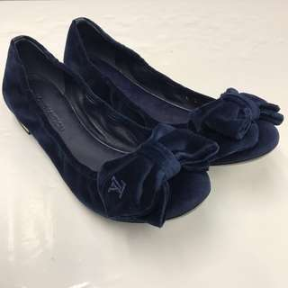 全新 Louis Vuitton Velvet Flat Shoes