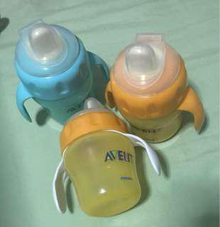 Avent 5oz sippy cups with hard spout