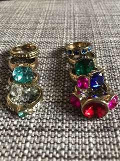 英國 Vintage 寶石介指 coloured stone rings