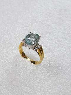 14k585 Aquamarine ring