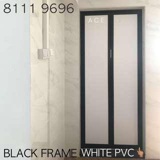 FULL SET ALUMINUM BI-FOLD BIFOLD DOOR for Bathroom or storeroom entrance